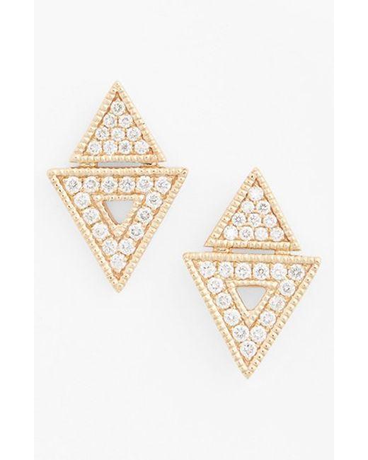 Dana Rebecca | Yellow 'jemma Morgan' Diamond Stud Earrings | Lyst