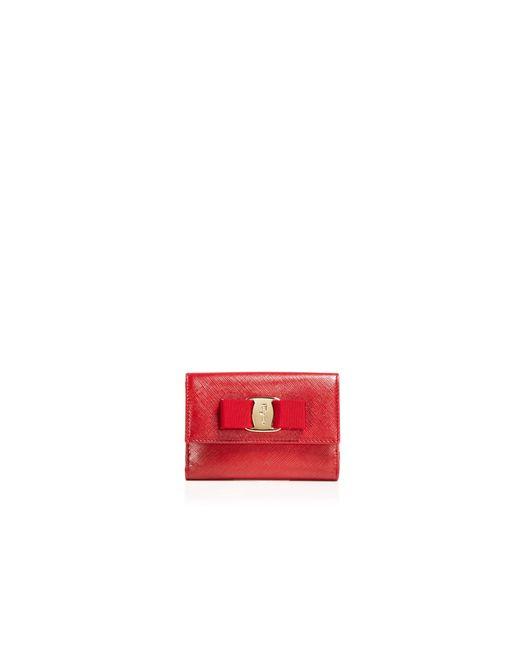 Ferragamo | Red Wallet - New Vara Small | Lyst