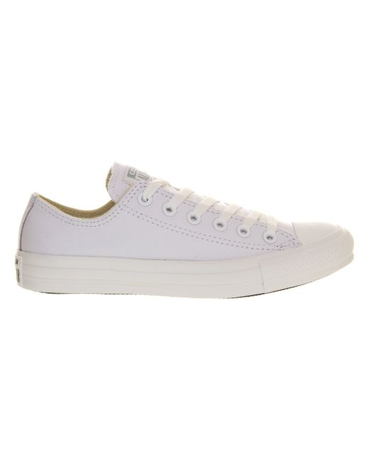 Converse | White All Star Low Leather for Men | Lyst