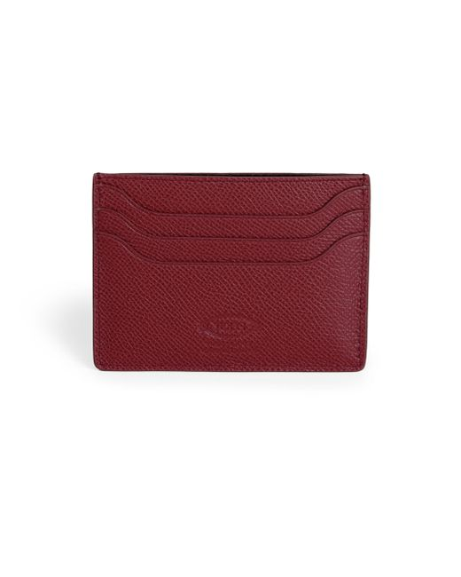 Tod's | Pebbled Leather Credit Card Case for Men | Lyst
