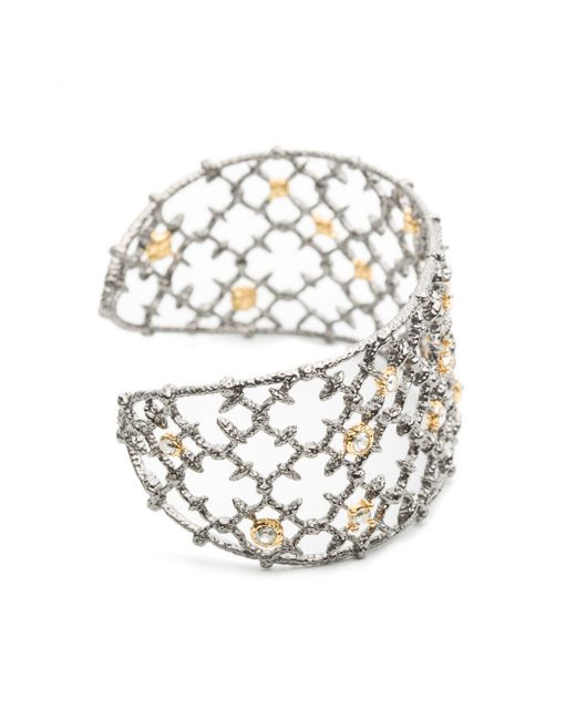 Alexis Bittar | Metallic Gunmetal Crystal Studded Spur Lace Cuff You Might Also Like | Lyst