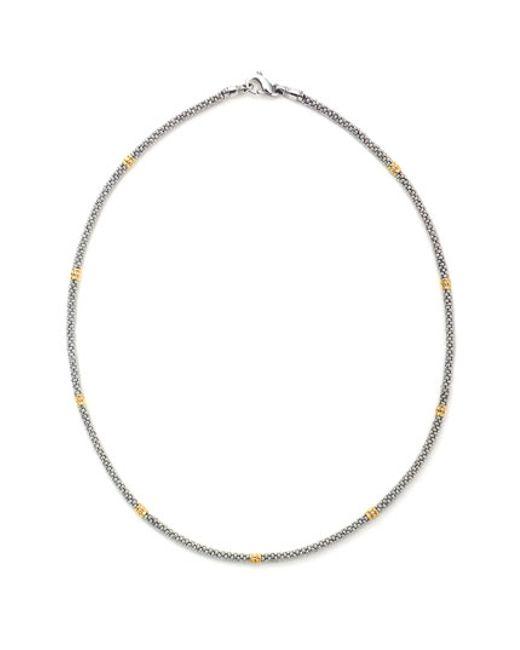 Lagos | Metallic Caviar Rope Necklace | Lyst