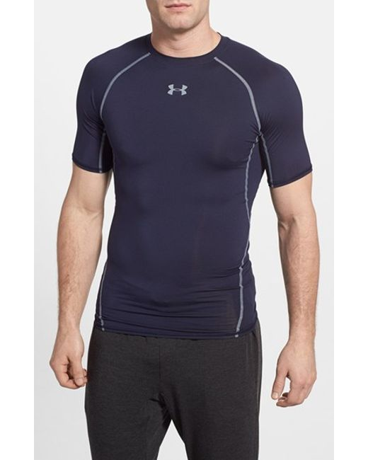 Under Armour | Blue Heatgear Compression Fit T-shirt for Men | Lyst