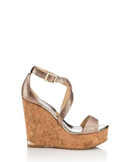 Jimmy Choo | Natural 'portia' Platform Wedge | Lyst