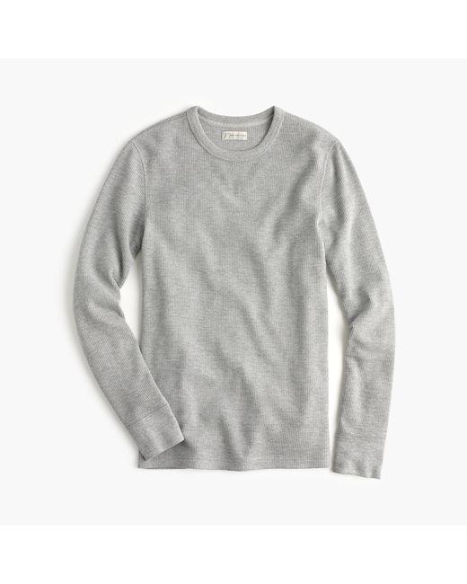 J.Crew   Gray Slim Long-sleeve Thermal T-shirt for Men   Lyst