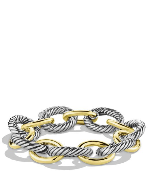 David Yurman | Metallic Oval Extra Large Link Bracelet | Lyst