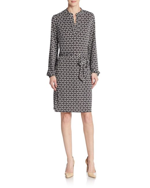 Laundry by Shelli Segal | Gray Basillica Dress | Lyst
