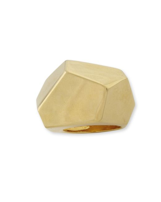 Kenneth Jay Lane | Metallic Geometric Ring | Lyst