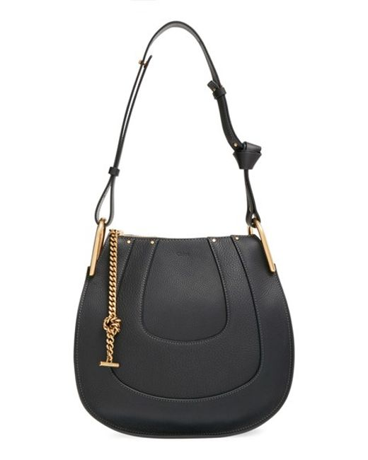 Chloé | Black Small Hayley Leather Shoulder Bag | Lyst