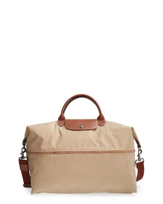 Longchamp   Natural 'le Pliage' Expandable Travel Bag   Lyst