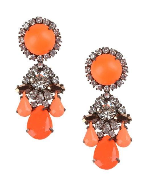 Shourouk | Orange Earrings | Lyst