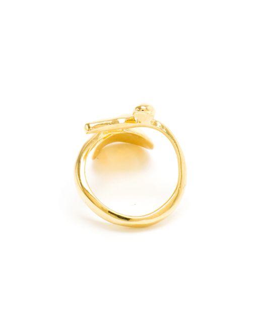 Bijules | Metallic Gold-tone Nail Ring | Lyst