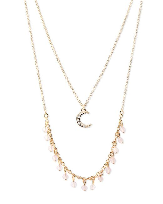 Forever 21 | Metallic Layered Crescent Charm Necklace | Lyst