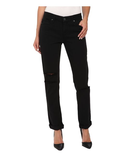 PAIGE | Jimmy Jimmy Skinny In Vintage Black Destructed | Lyst