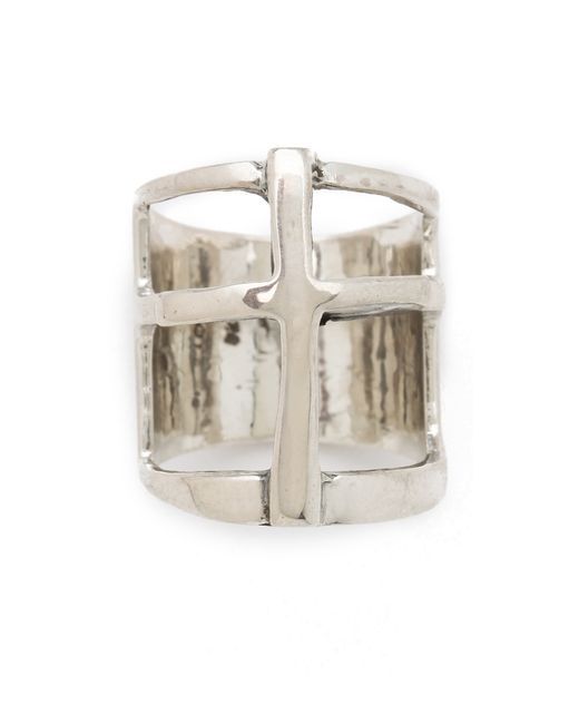 Pamela Love | Metallic Cross Ring | Lyst