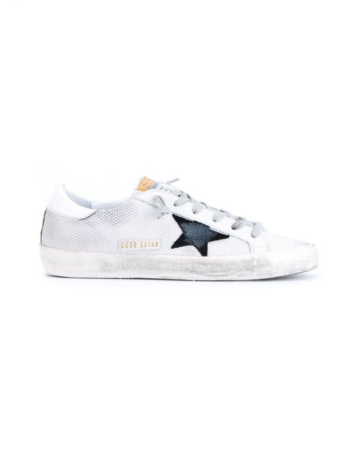 Golden Goose Deluxe Brand | Gray Superstar Mesh and Leather Low-Top Sneakers | Lyst
