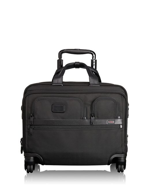 Tumi | Black Alpha 2 Wheel Deluxe Brief And Laptop Case for Men | Lyst