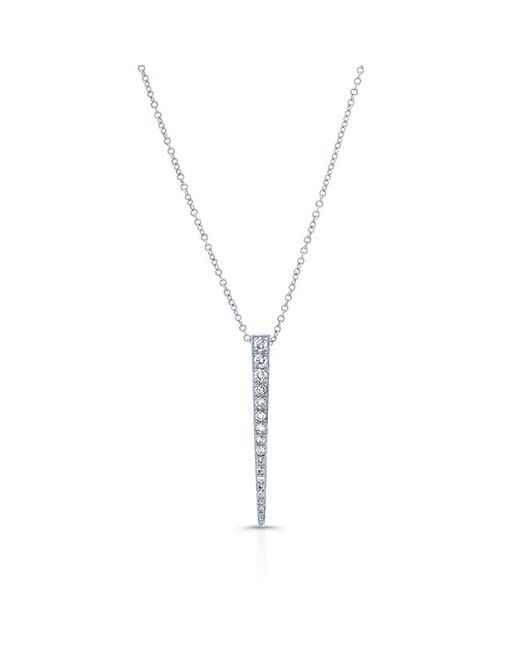 Anne Sisteron | Metallic 14kt White Gold Diamond Large Dagger Necklace | Lyst