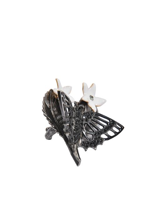 Roberto Cavalli | Black Wild Butterfly Ring | Lyst