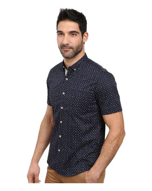 7 Diamonds | Blue Light Years Short Sleeve Shirt for Men | Lyst