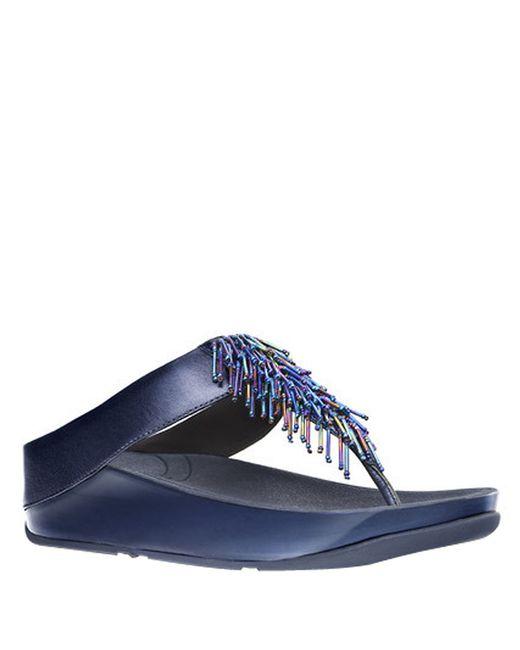 Fitflop   Blue Cha Cha Tm Sandal Wedges   Lyst