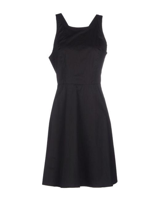 DKNY | Black Short Dress | Lyst