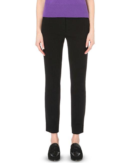 Diane von Furstenberg | Black Genesis Cropped Trousers | Lyst