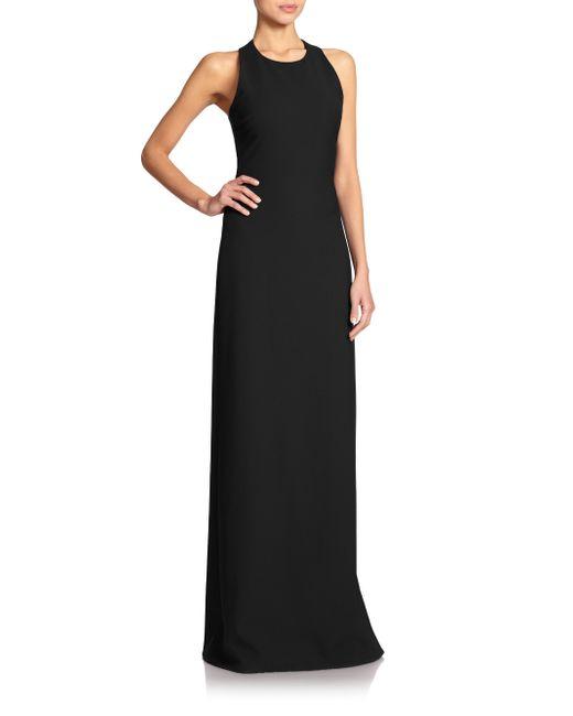 Elizabeth and James | Black Freya Crepe Column Gown  | Lyst