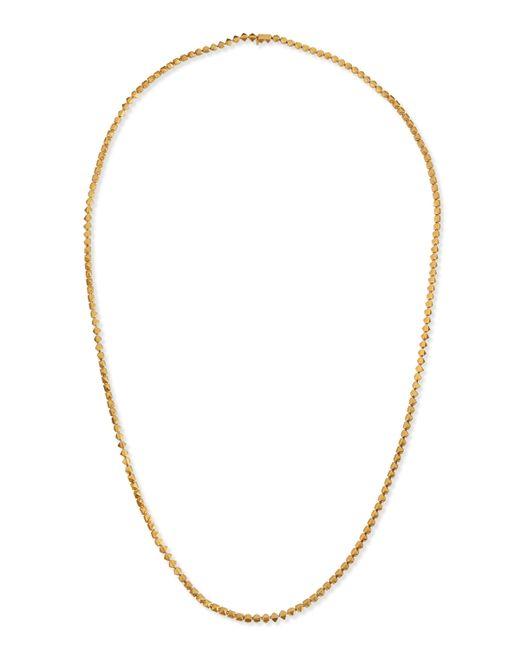 Eddie Borgo | Metallic Matte Yellow Gold Pyramid Link Necklace | Lyst