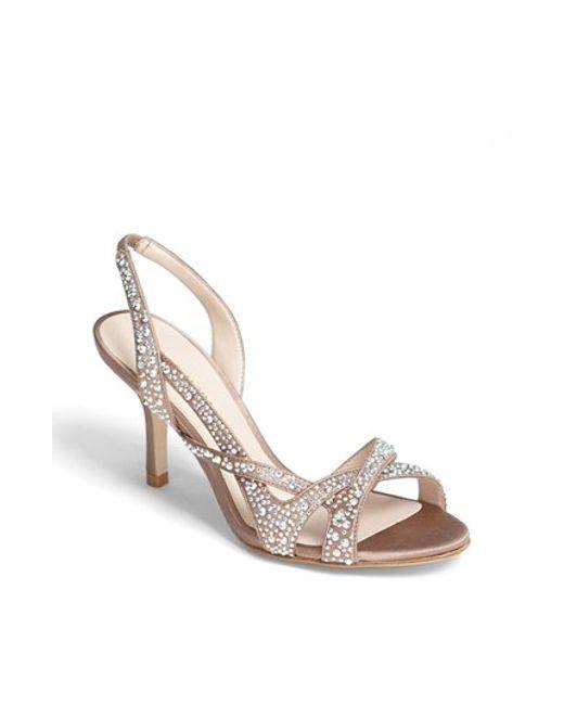 pelle moda gretel sandal in beige rose taupe lyst