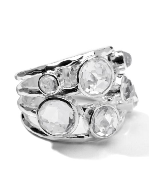 Ippolita   Metallic Sterling Silver Rock Candy Constellation Ring In Clear Quartz   Lyst