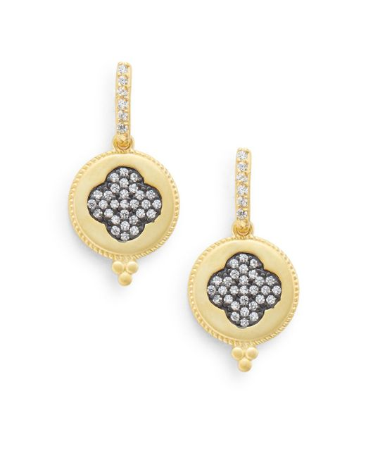 Freida Rothman | Metallic Clover Disc Drop Earrings | Lyst