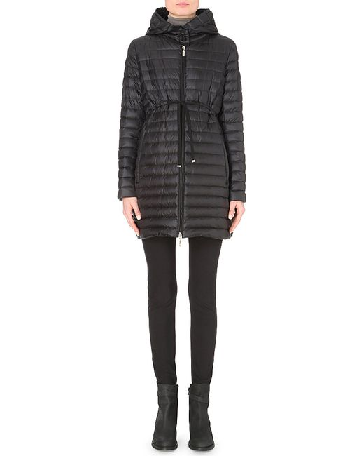 Moncler | Black Barbel Quilted Shell Coat | Lyst