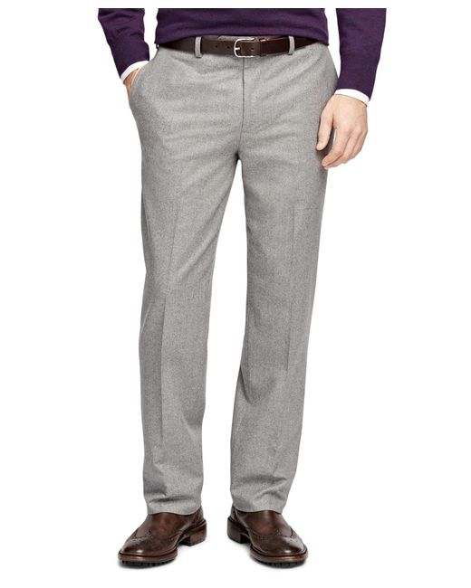 Brooks Brothers | Gray Fitzgerald Fit Flannel Trousers for Men | Lyst