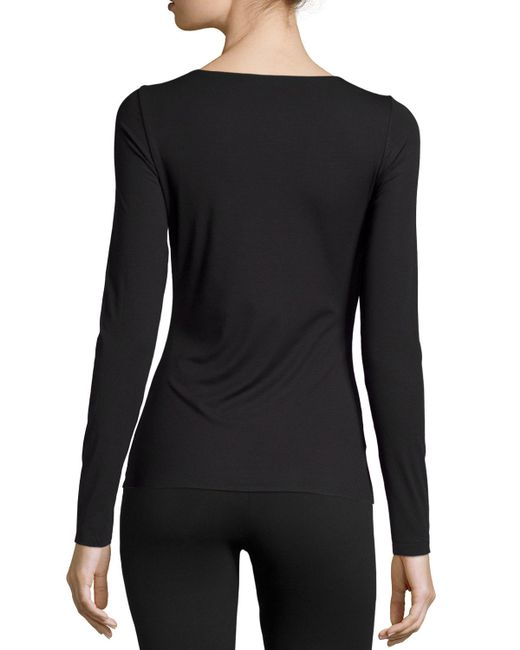 Wolford | Black Pure Long-sleeve Pullover Top | Lyst