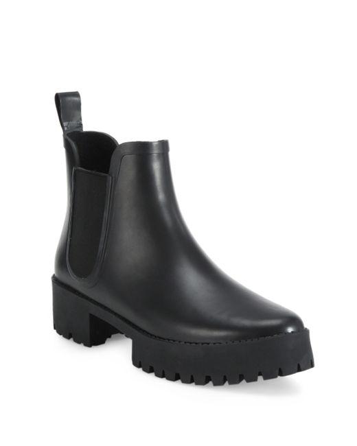 loeffler randall rubber platform boots in