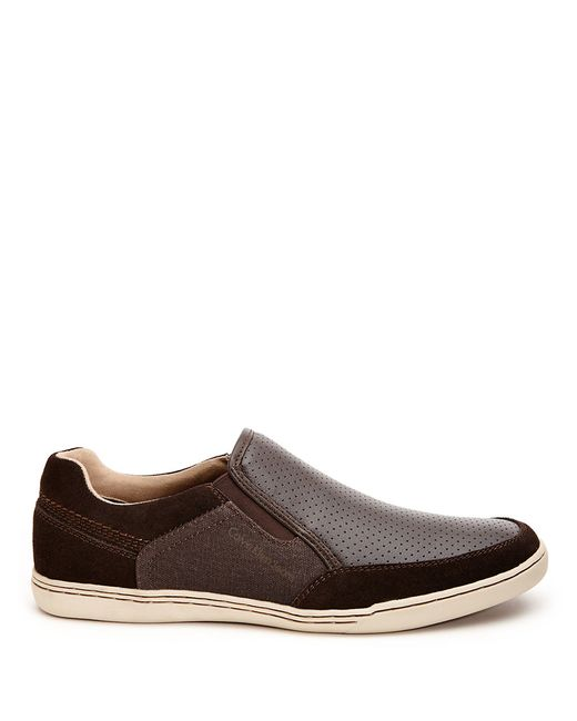 calvin klein chet slip on sneakers in brown for men save. Black Bedroom Furniture Sets. Home Design Ideas