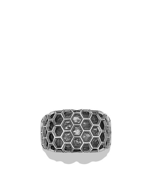 David Yurman | Metallic Forged Carbon Honey Comb Signet Ring for Men | Lyst