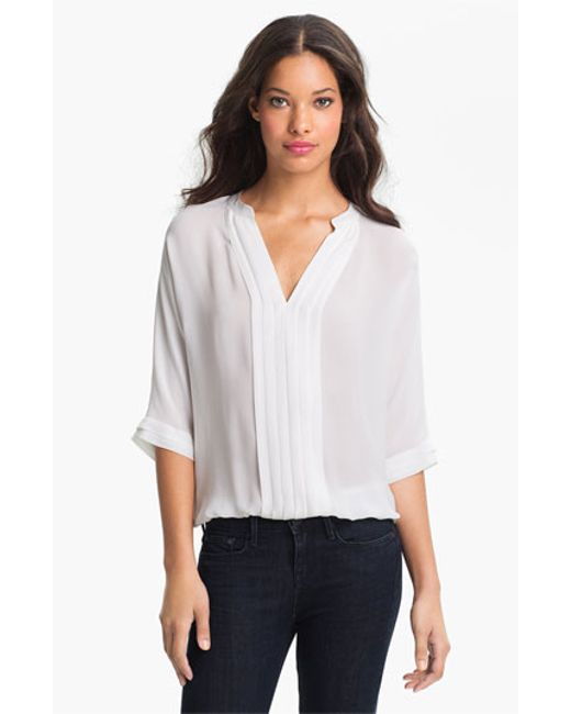 White Sheer Silk Blouse 113