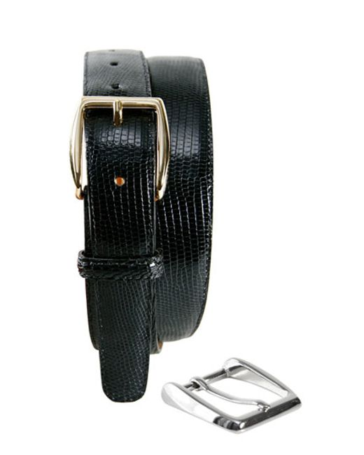 Trafalgar | Brown 'windsor' Lizard Leather Belt With Interchangeable Buckles for Men | Lyst