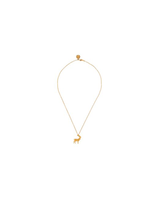 Whistles | Metallic Stag Charm Necklace | Lyst