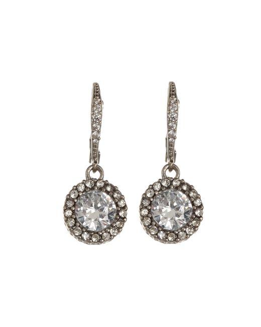 Betsey Johnson | Metallic Cz Drop Earrings | Lyst