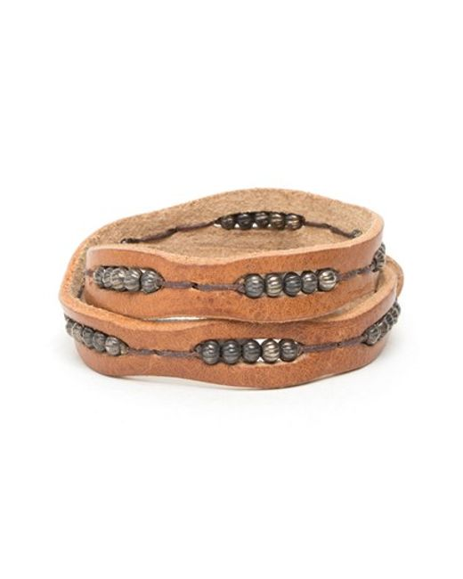Will Leather Goods | Brown 'black' Wrap Bracelet for Men | Lyst