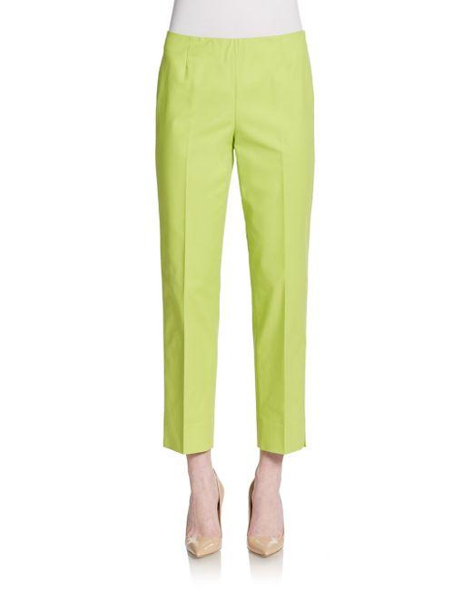 Lafayette 148 New York | Green Cropped Bleeker Pants | Lyst