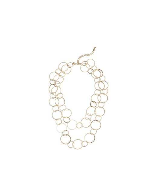 Kenneth Jay Lane | Metallic Circle Link Necklace | Lyst