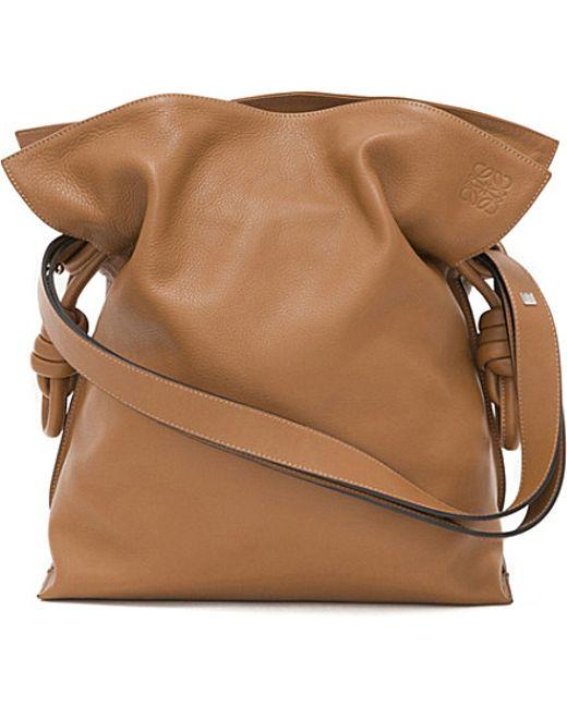 Loewe   Brown Flamenco Knot Leather Shoulder Bag   Lyst
