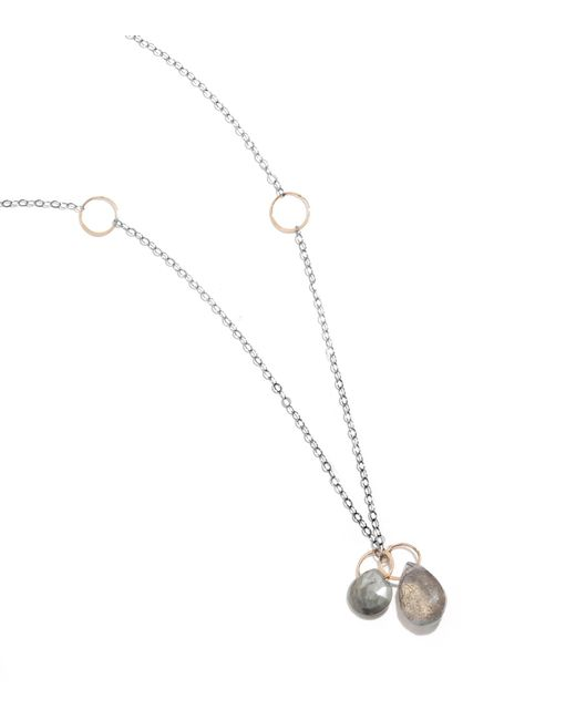 Melissa Joy Manning | Metallic Labradorite And Cat's Eye Gold And Oxidized Silver Necklace | Lyst