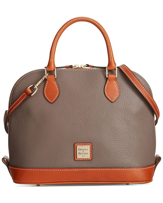 Dooney & Bourke | Gray Pebble Zip Zip Satchel | Lyst