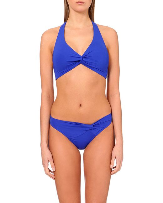 Jets by Jessika Allen | Blue Intuition Halterneck Bikini Top | Lyst