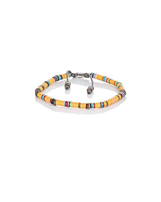 M Cohen | Orange Rondelle Bracelet for Men | Lyst